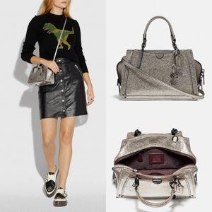 Coach Dreamer 21 Platinum leather crossbody bag